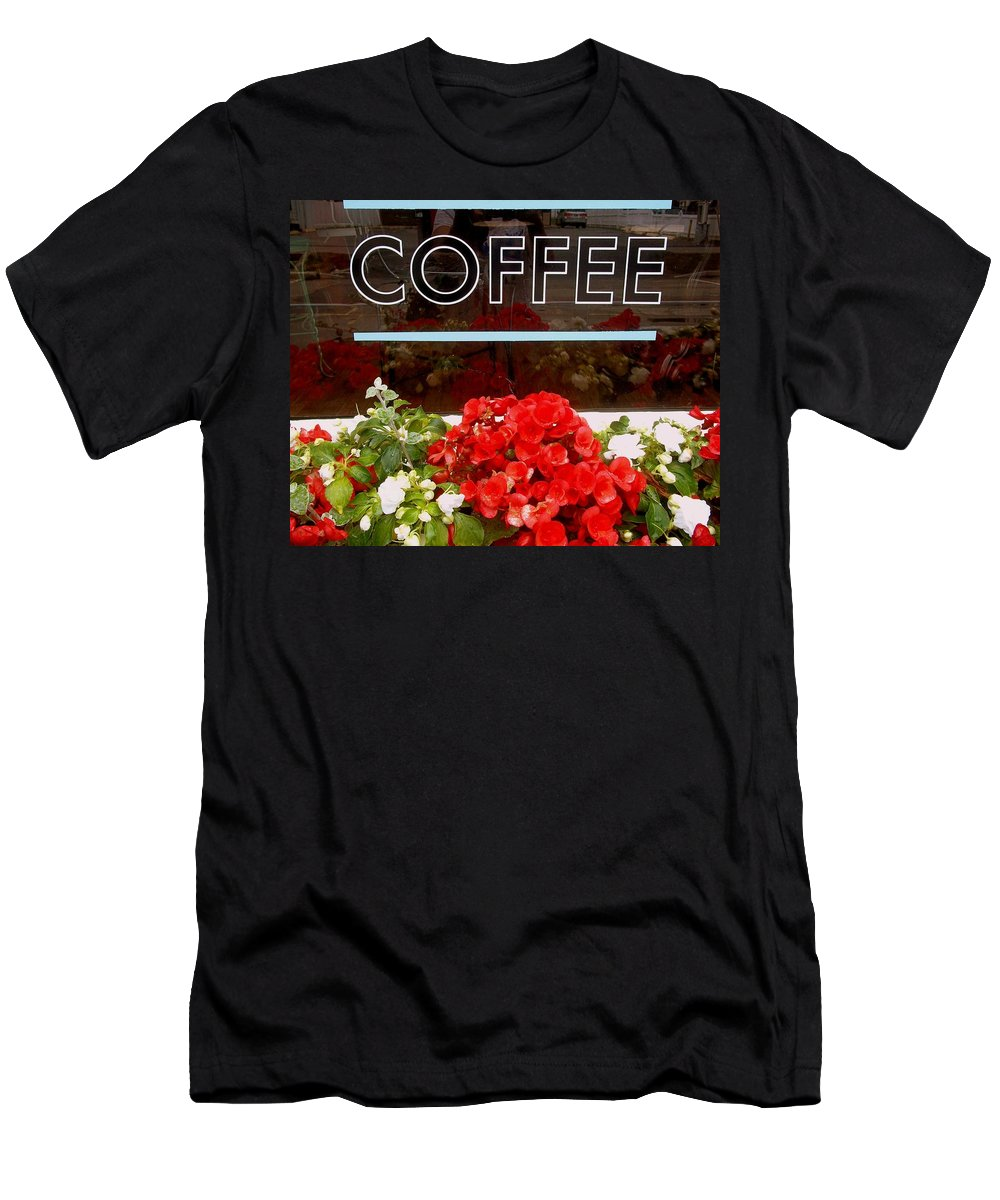 Coffee Men's T-Shirt (Athletic Fit) featuring the photograph Coffee by Cynthia Amaral
