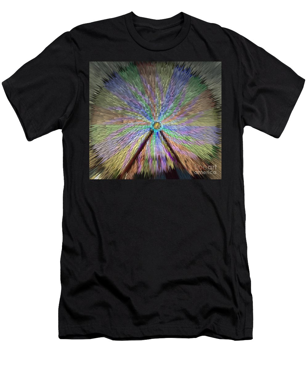 Extrude Men's T-Shirt (Athletic Fit) featuring the photograph Colorful Fair Wheel by Donna Brown