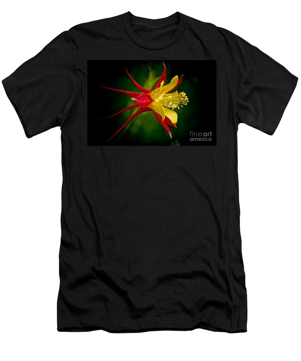 Floral Men's T-Shirt (Athletic Fit) featuring the photograph Columbine by Larry Carr