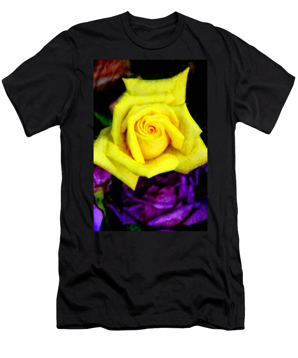 Rose Men's T-Shirt (Athletic Fit) featuring the photograph Compliments by Angelina Vick