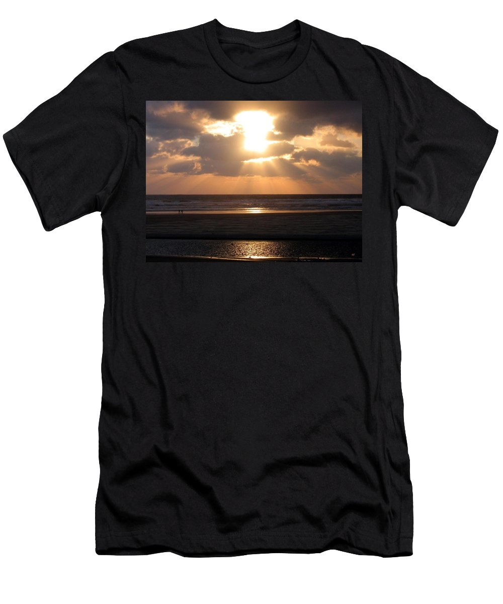 Sunset Men's T-Shirt (Athletic Fit) featuring the photograph Copper Sunset Stroll by Will Borden