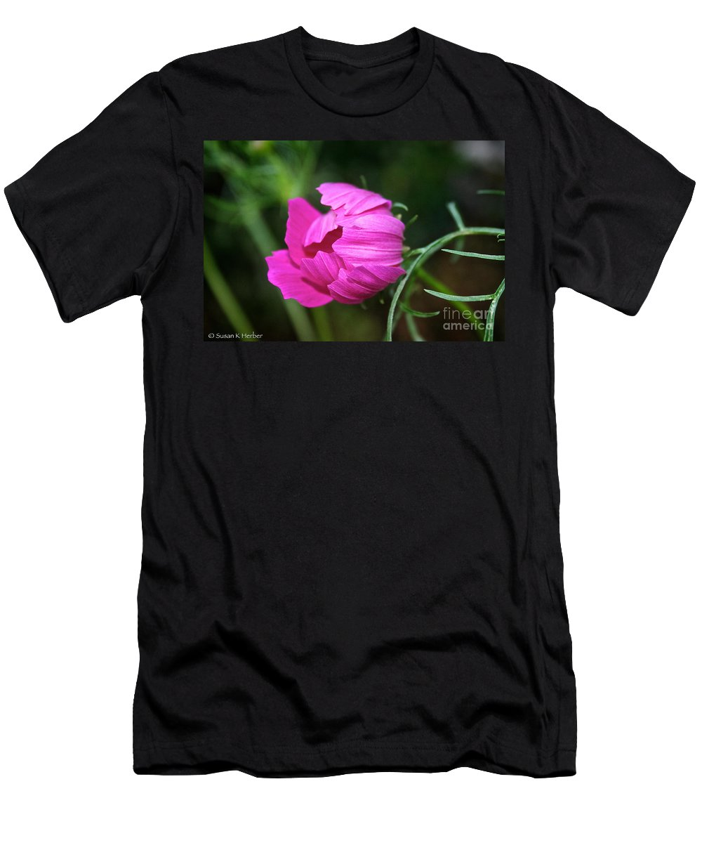 Outdoors Men's T-Shirt (Athletic Fit) featuring the photograph Cosmos Coming Soon by Susan Herber