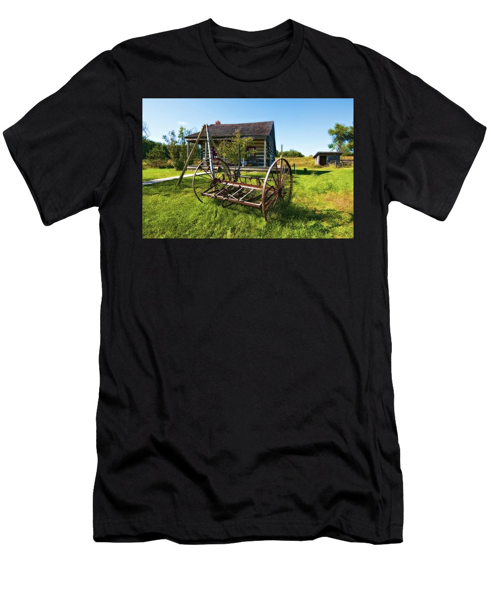Grey Roots Museum & Archives Men's T-Shirt (Athletic Fit) featuring the photograph Country Classic Oil by Steve Harrington