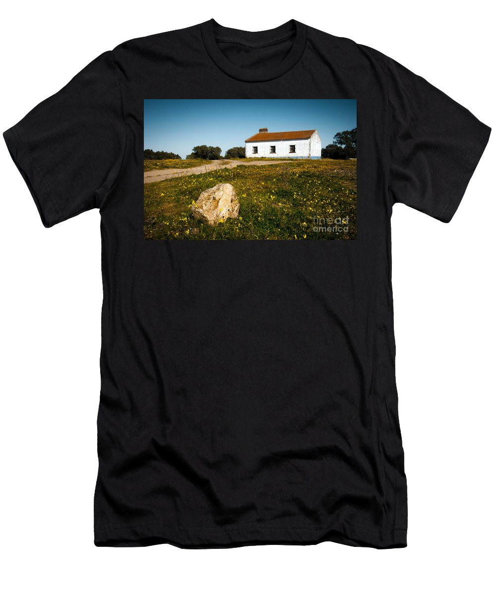 Abandoned Men's T-Shirt (Athletic Fit) featuring the photograph Country House by Carlos Caetano