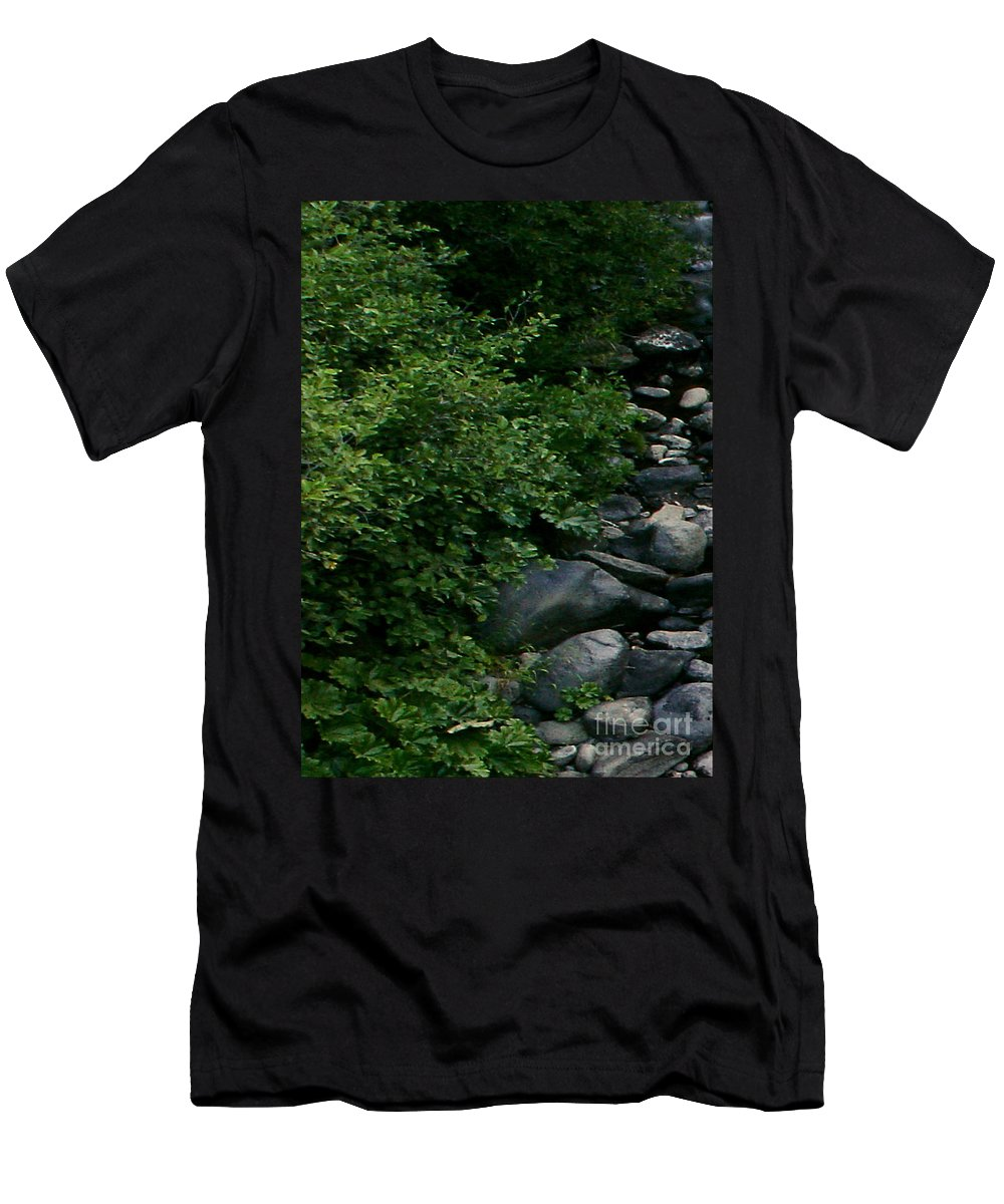 Creek Men's T-Shirt (Athletic Fit) featuring the digital art Creek Flow Panel 1 by Peter Piatt