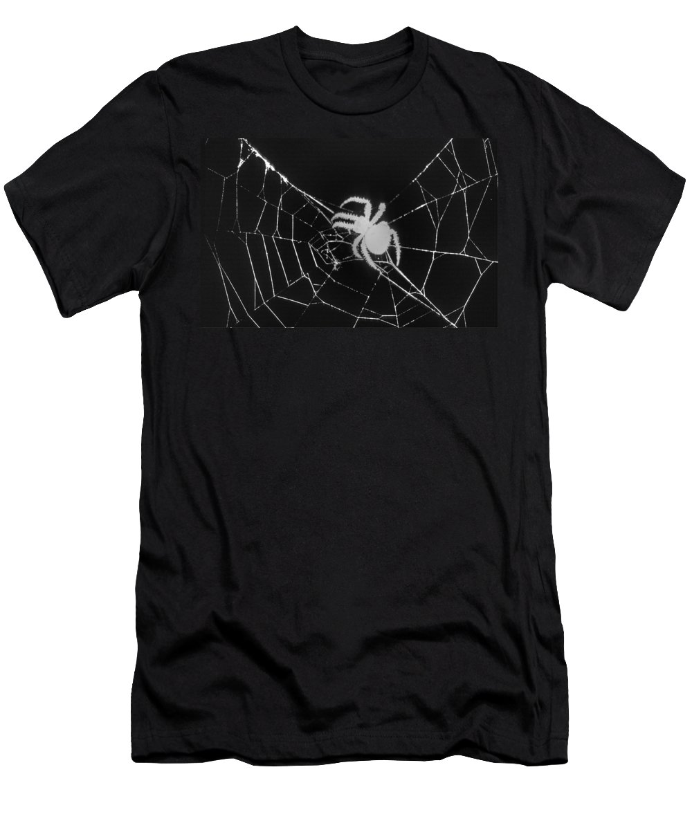 Spider Men's T-Shirt (Athletic Fit) featuring the photograph Creepy Spider by One Rude Dawg Orcutt