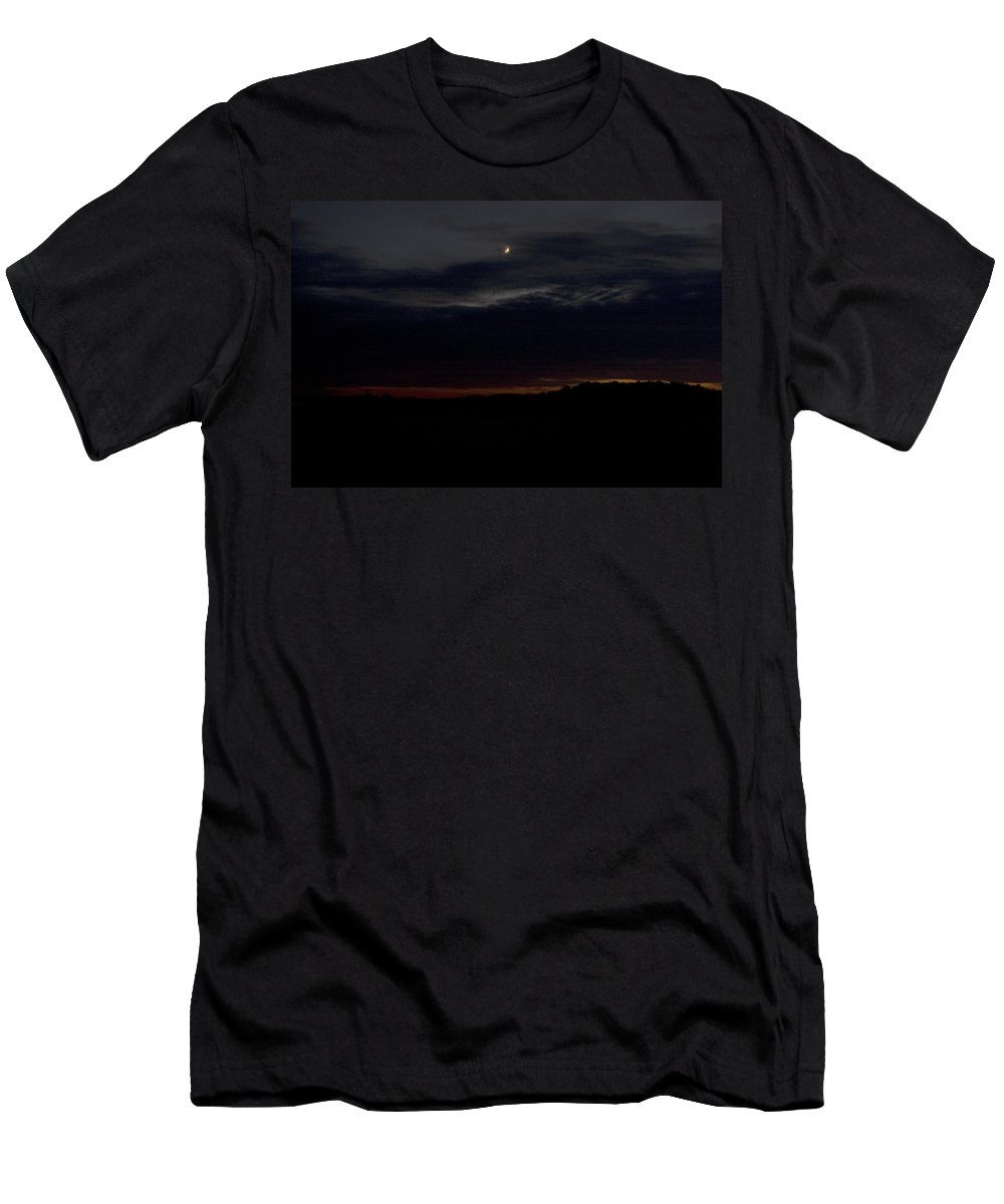 Landscape Men's T-Shirt (Athletic Fit) featuring the photograph Crescent by Jean Macaluso