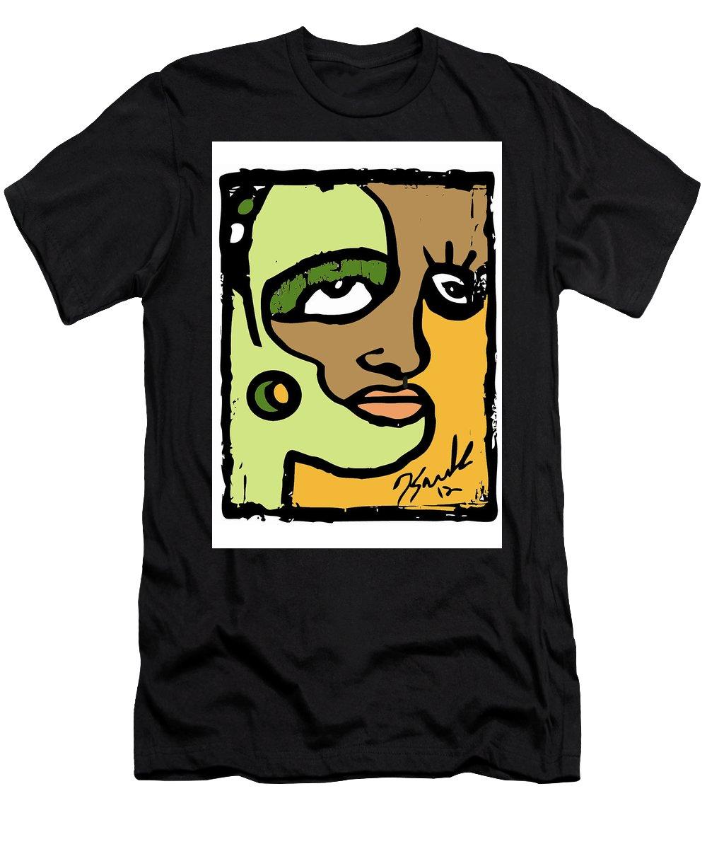 Abstractart Men's T-Shirt (Athletic Fit) featuring the digital art Culture Shock by Kamoni Khem