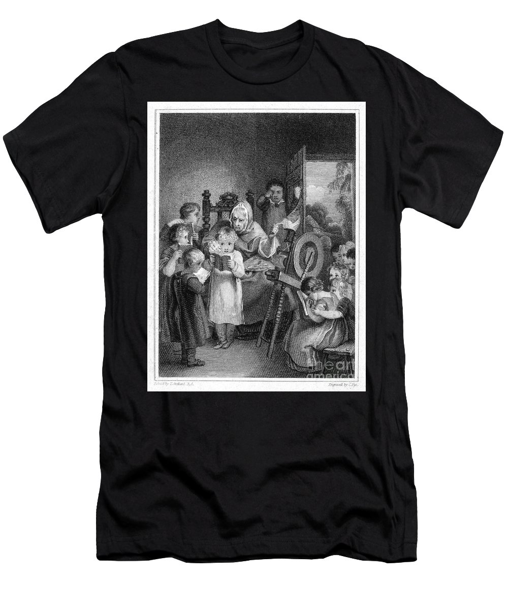 1812 Men's T-Shirt (Athletic Fit) featuring the photograph Dames School, 1812 by Granger