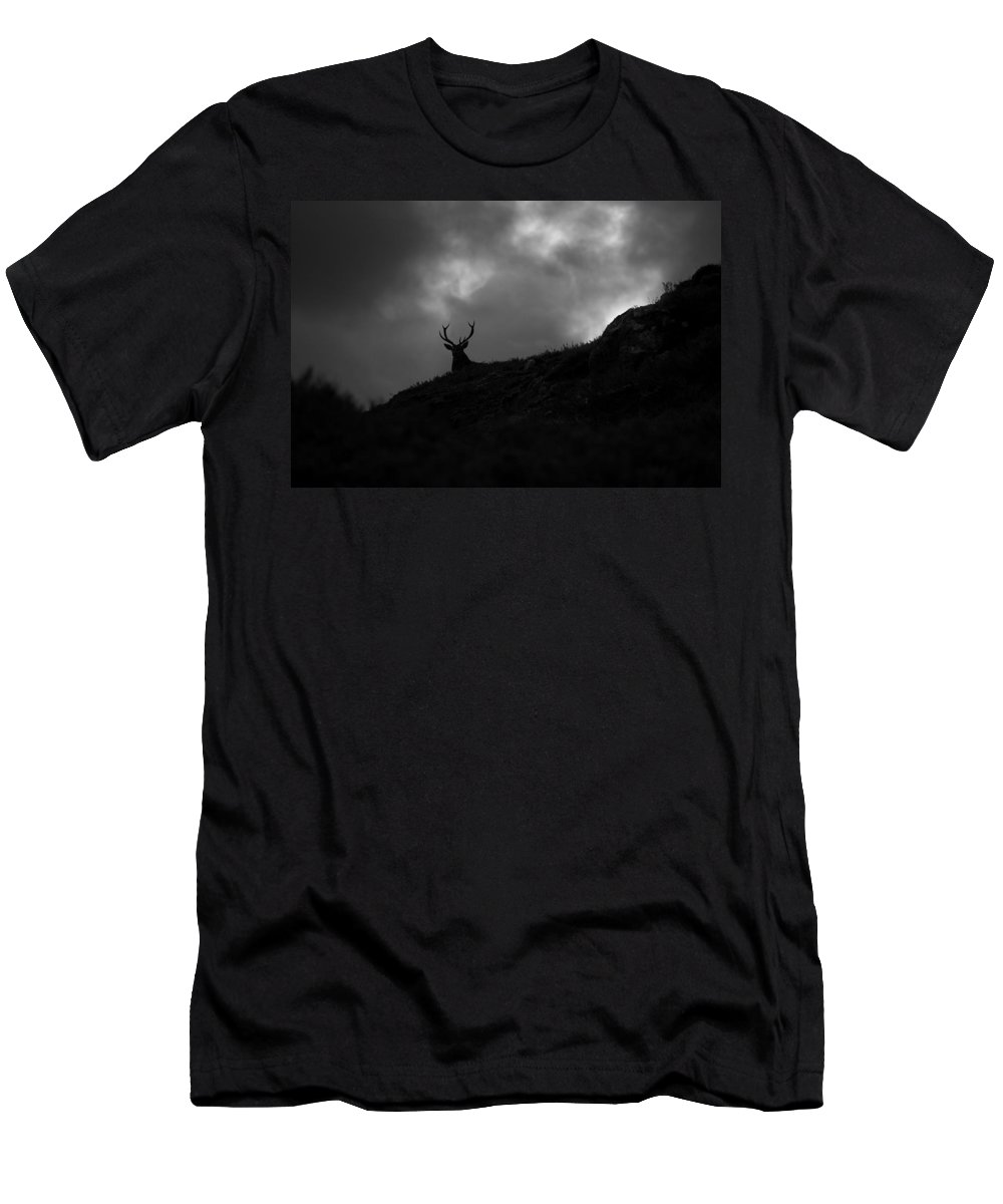 Silhouette Men's T-Shirt (Athletic Fit) featuring the photograph Dark And Stormy by Gavin Macrae