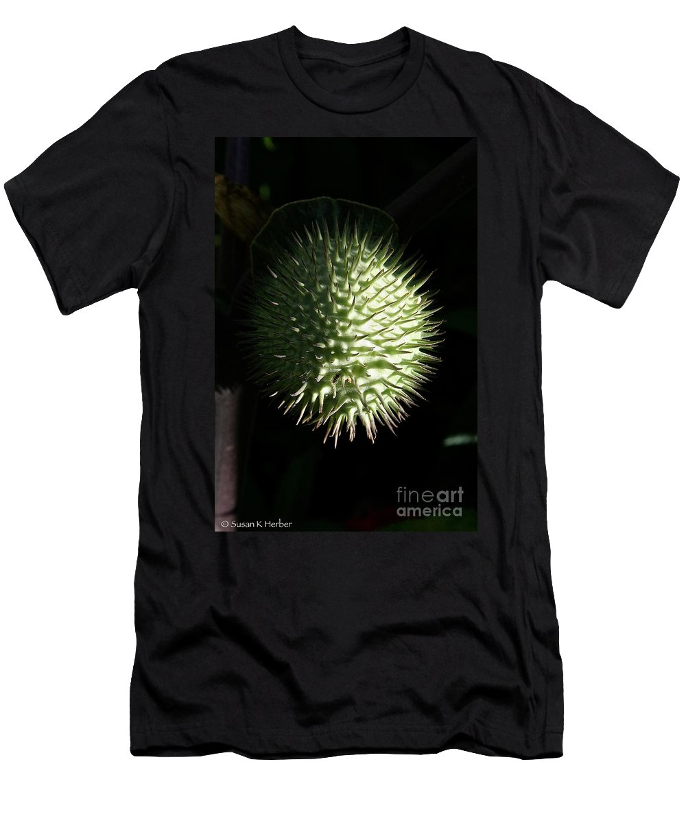 Outdoors Men's T-Shirt (Athletic Fit) featuring the photograph Dark Side Of Sharp by Susan Herber
