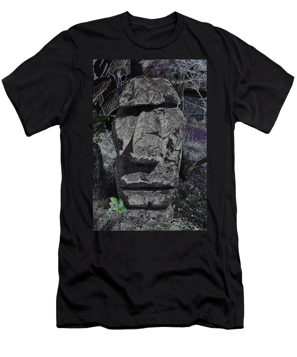 Tiki Men's T-Shirt (Athletic Fit) featuring the photograph Dark Tiki by Bill Owen