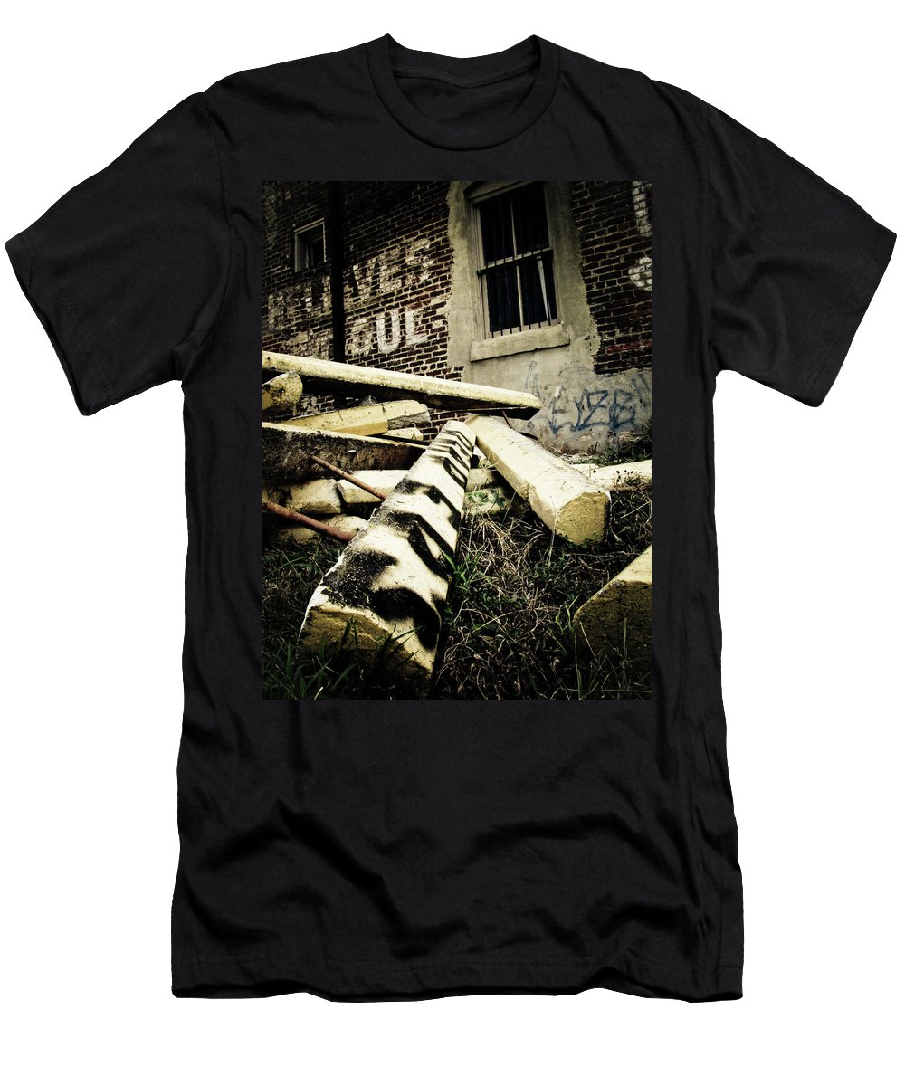 Urban Men's T-Shirt (Athletic Fit) featuring the photograph City Parking by Jessica Brawley