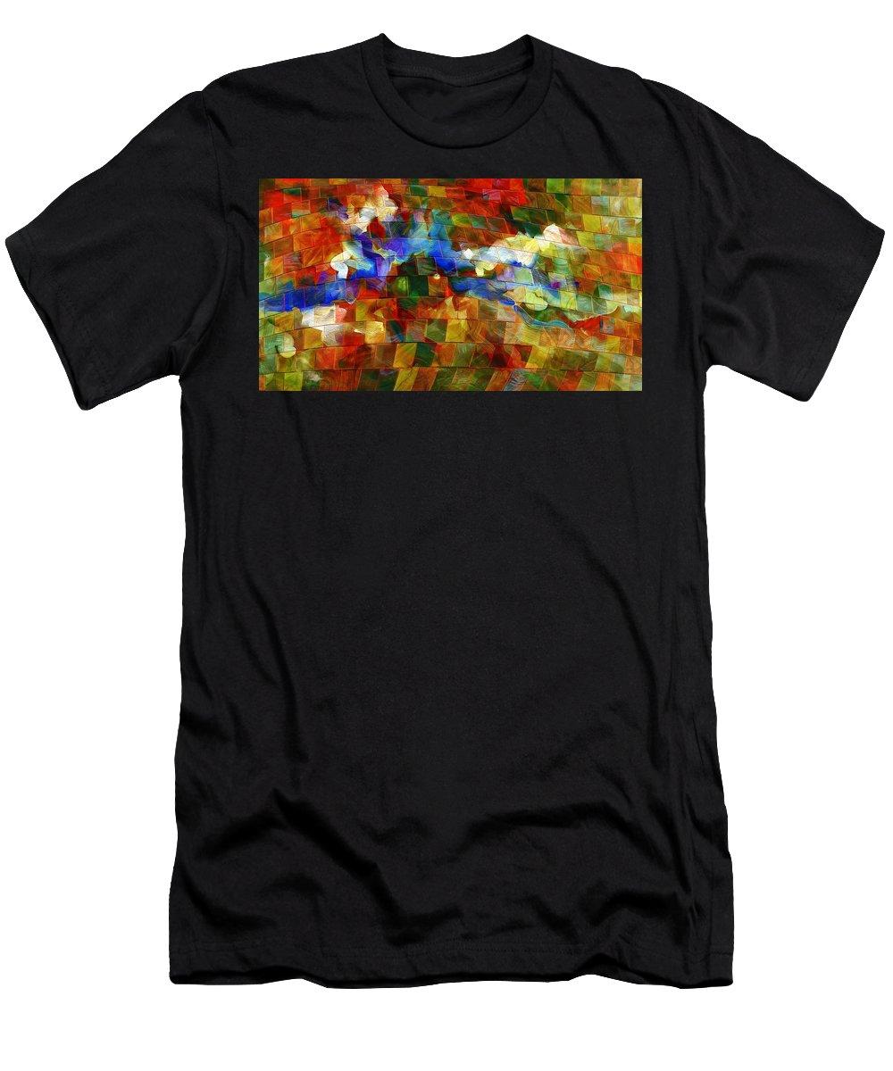 Music Men's T-Shirt (Athletic Fit) featuring the digital art Dei Miei Bollenti Spiriti by Georgiana Romanovna