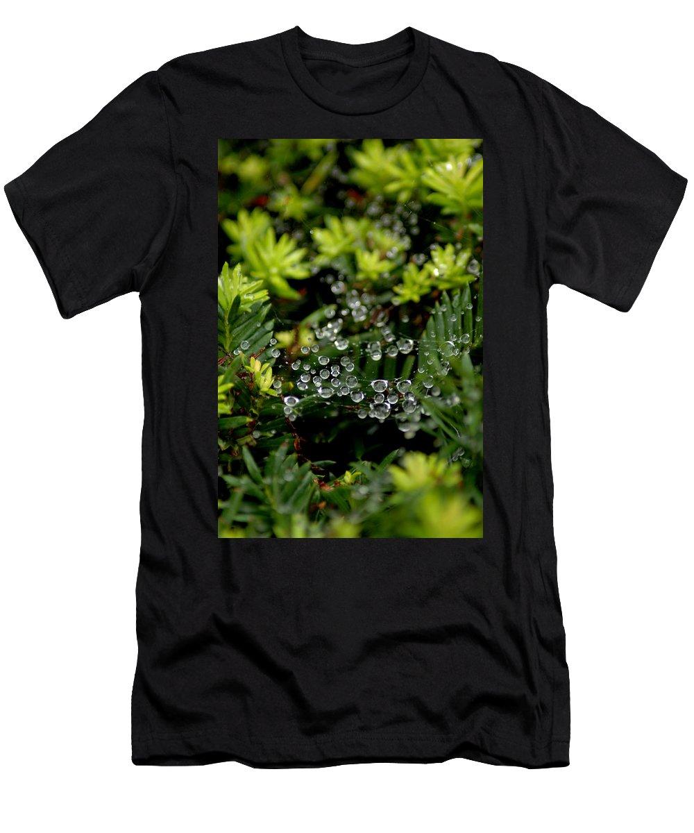 Usa Men's T-Shirt (Athletic Fit) featuring the photograph Dew Spheres by LeeAnn McLaneGoetz McLaneGoetzStudioLLCcom