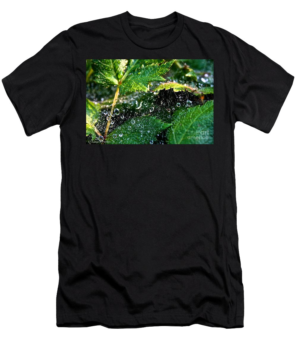 Outdoors Men's T-Shirt (Athletic Fit) featuring the photograph Dewey Web by Susan Herber