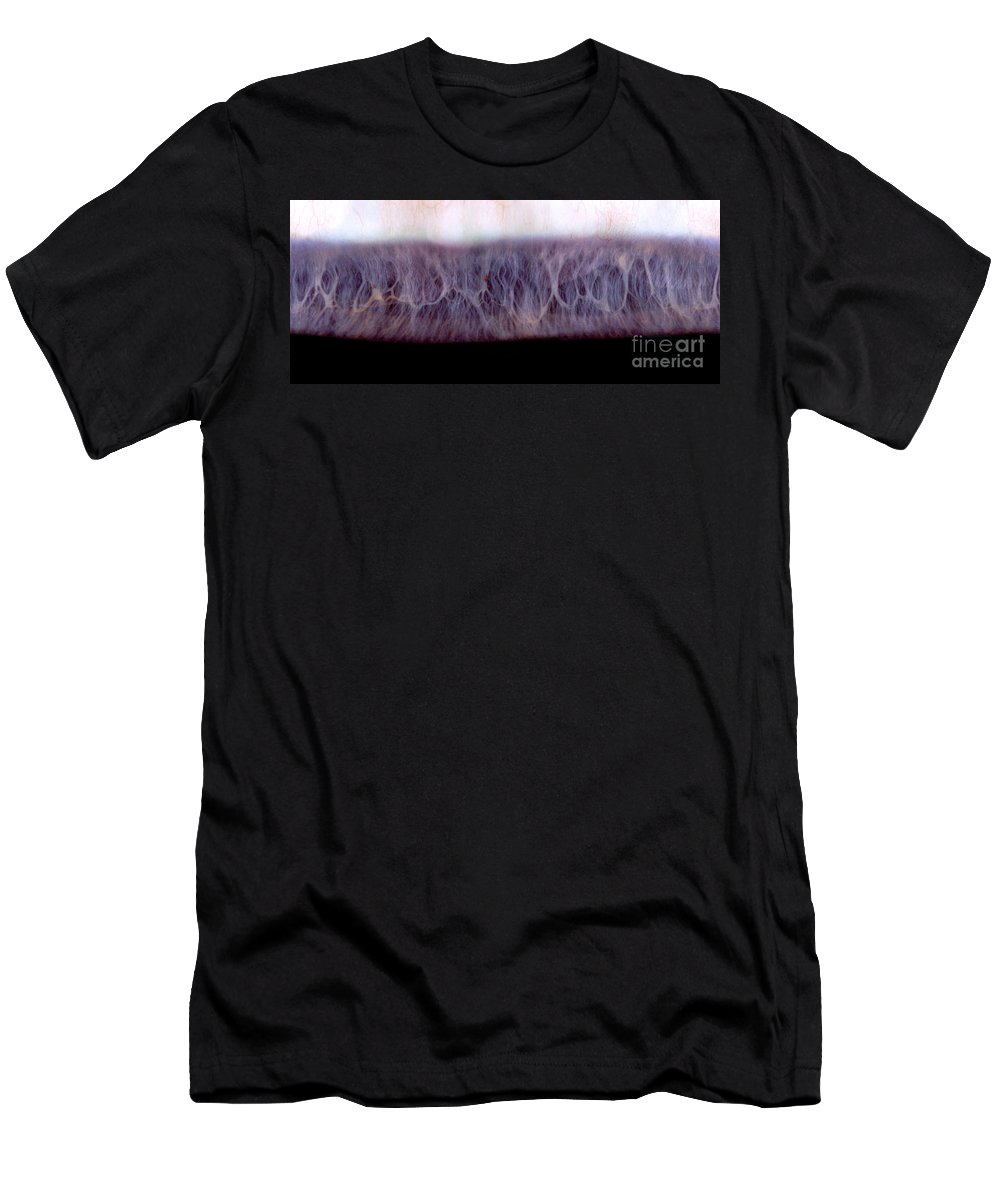 Eye Men's T-Shirt (Athletic Fit) featuring the photograph Digital Inversion Of Human Eye by Raul Gonzalez Perez