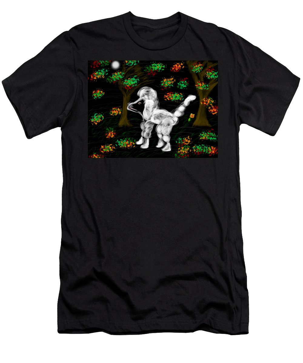 Men's T-Shirt (Athletic Fit) featuring the digital art Dog by Mathieu Lalonde