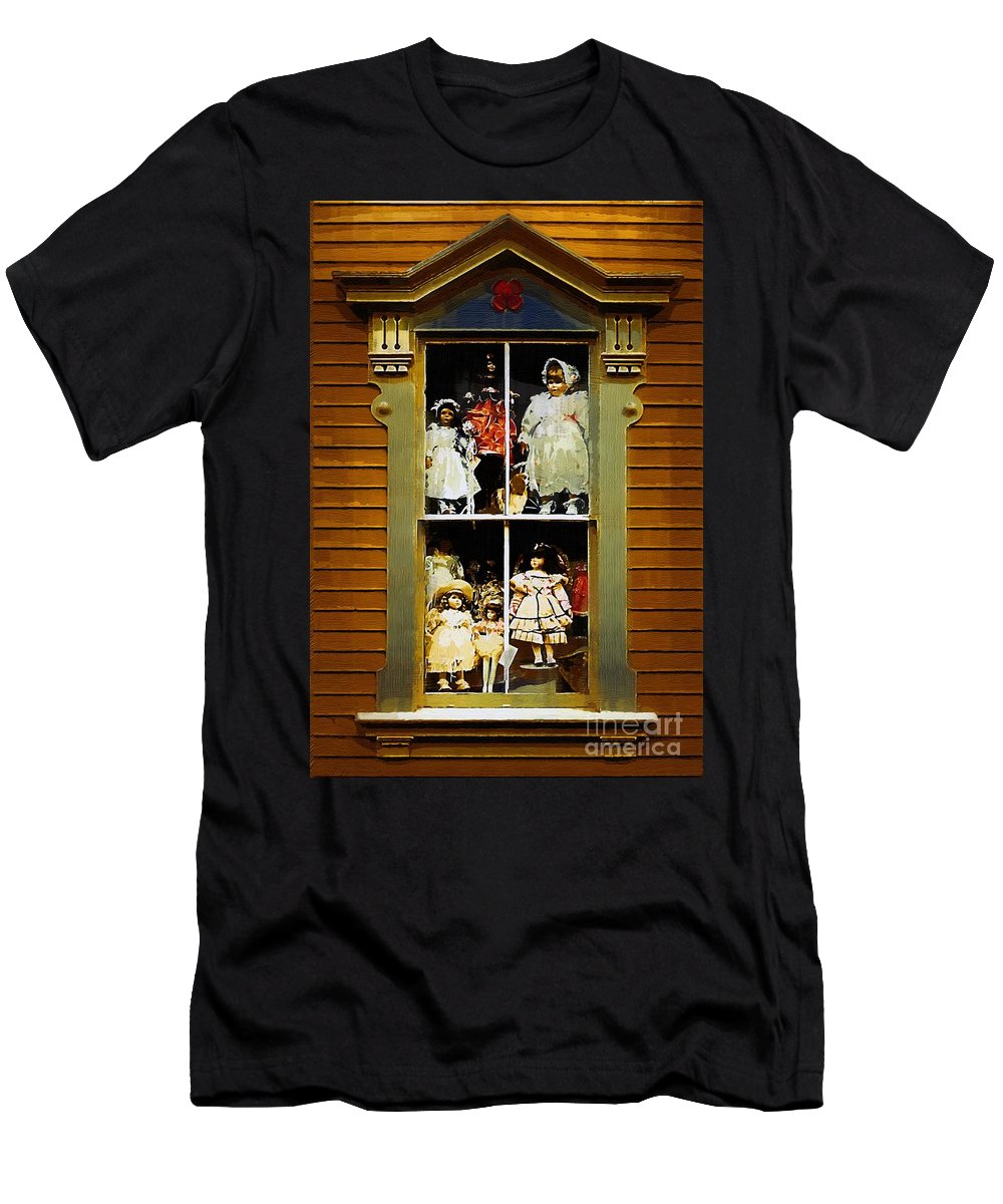 Antiques Men's T-Shirt (Athletic Fit) featuring the painting Dollhouse Gothic by RC DeWinter
