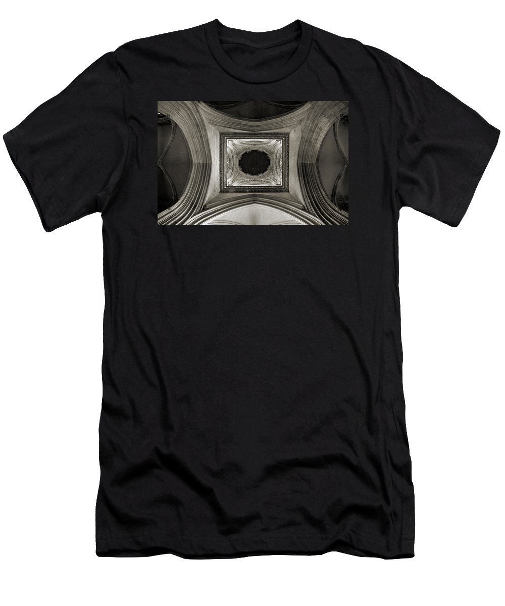 Dome Men's T-Shirt (Athletic Fit) featuring the photograph Dome In Saint Jean Church - Caen by RicardMN Photography
