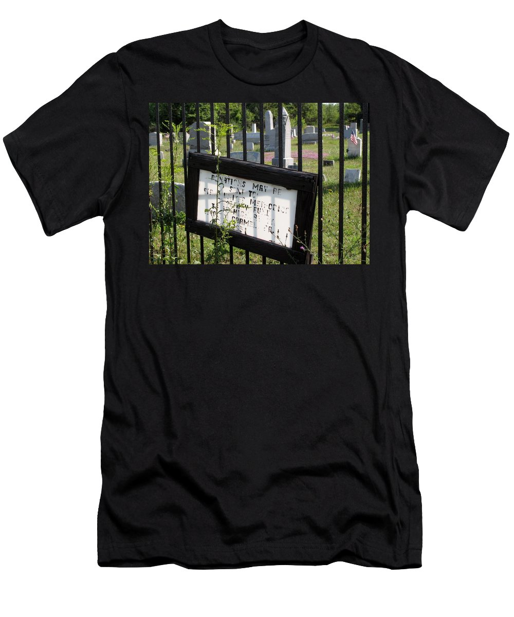 Graveyard Men's T-Shirt (Athletic Fit) featuring the photograph Donations by Michele Nelson