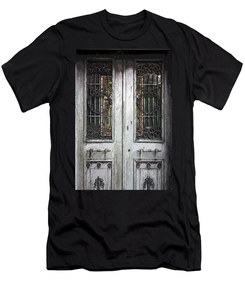 Cemetery Men's T-Shirt (Athletic Fit) featuring the photograph Doorway To The Hereafter by Erin Rosenblum