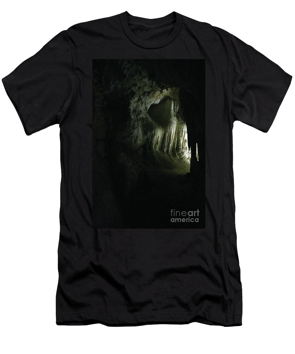 Cave Men's T-Shirt (Athletic Fit) featuring the photograph Doorway To Wonderland by Alycia Christine