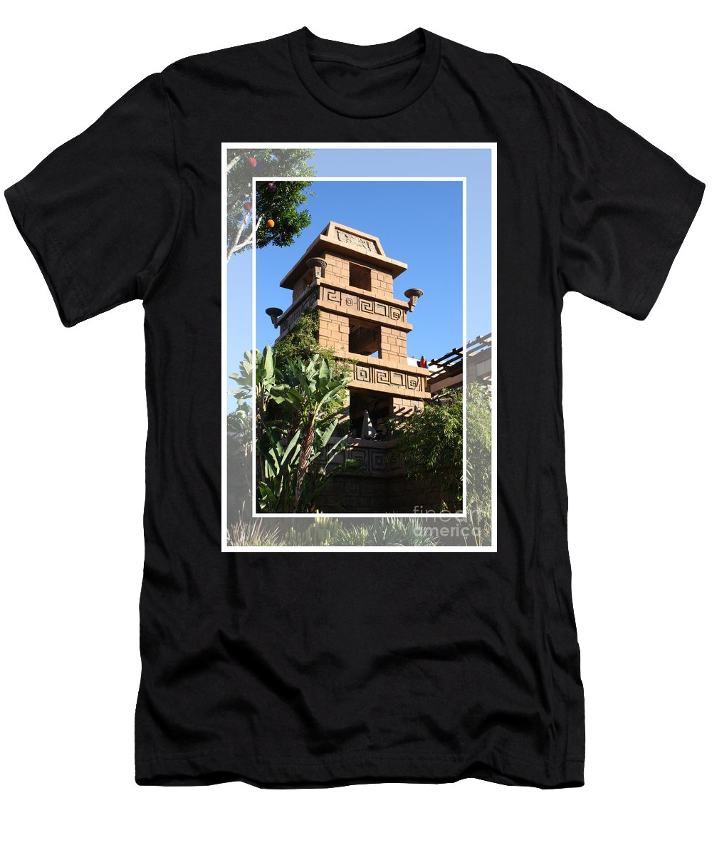 Downtown Disney Men's T-Shirt (Athletic Fit) featuring the pyrography Downtown Disney by Tommy Anderson