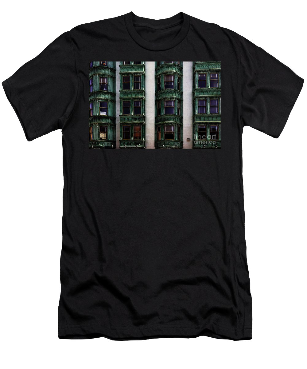 San Francisco Men's T-Shirt (Athletic Fit) featuring the photograph Downtown San Francisco by Bob Christopher