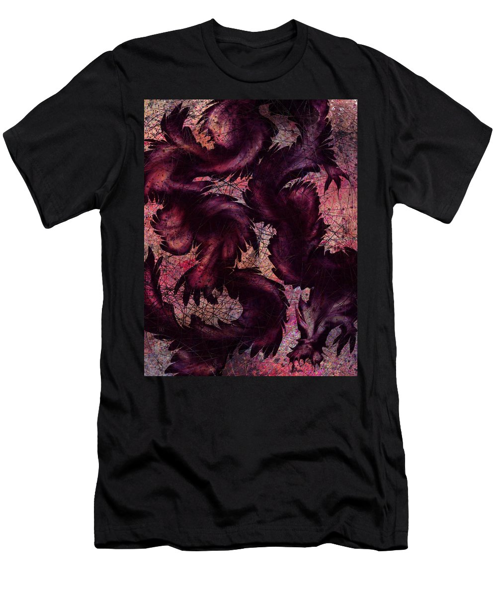 Dragon Men's T-Shirt (Athletic Fit) featuring the digital art Dragon by Rachel Christine Nowicki