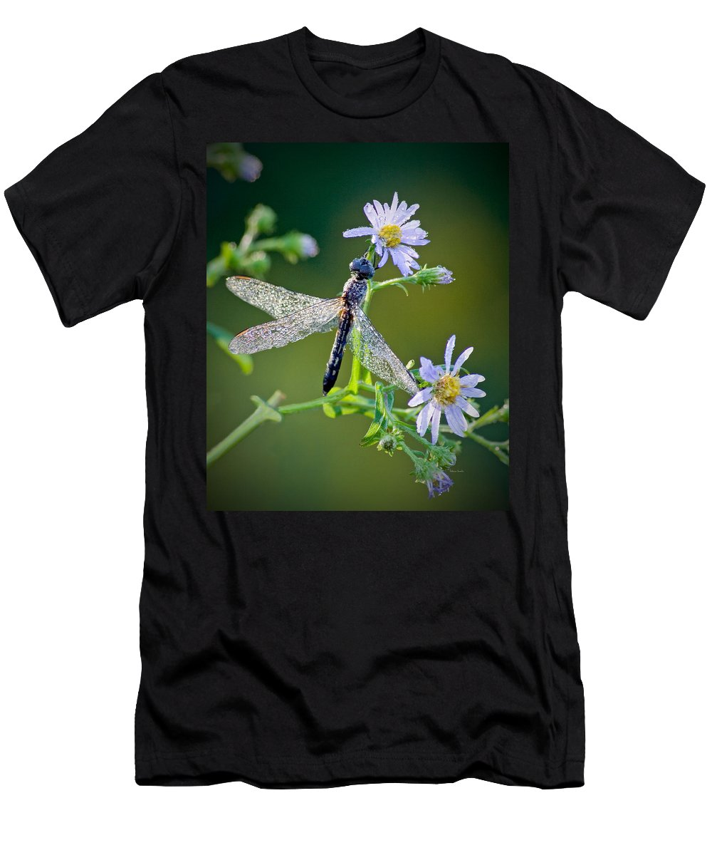 Dragonfly Men's T-Shirt (Athletic Fit) featuring the photograph Dragonfly by Rebecca Samler