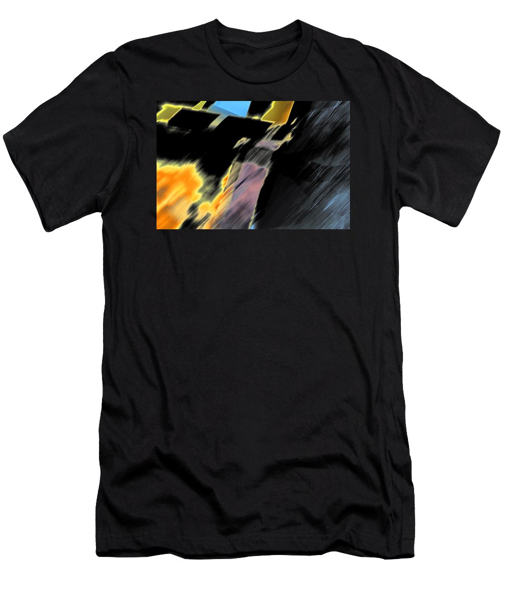 Black Men's T-Shirt (Athletic Fit) featuring the photograph Drive By Abstract by Ric Bascobert