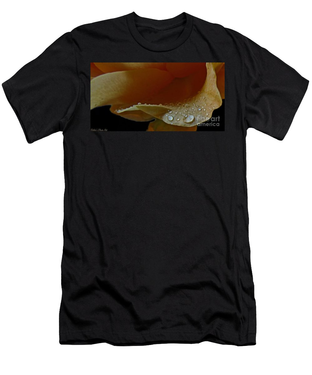 Nature Men's T-Shirt (Athletic Fit) featuring the photograph Drops Of Light by Debbie Portwood