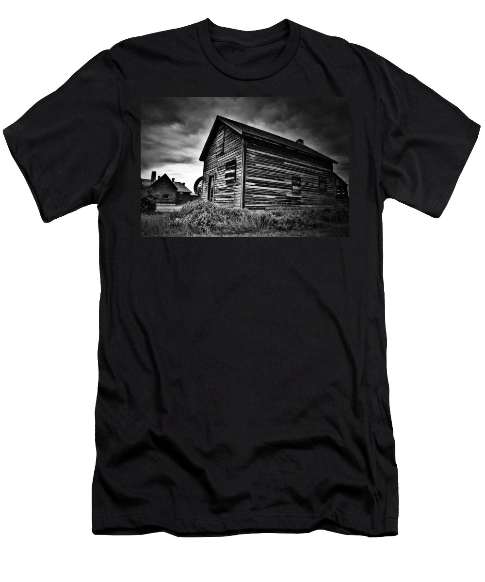 Fall Men's T-Shirt (Athletic Fit) featuring the photograph Dwellers Dust by The Artist Project