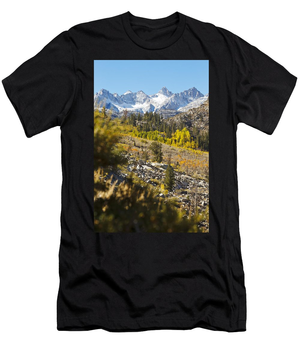 America Men's T-Shirt (Athletic Fit) featuring the photograph Eastern Sierra Mountains by MakenaStockMedia
