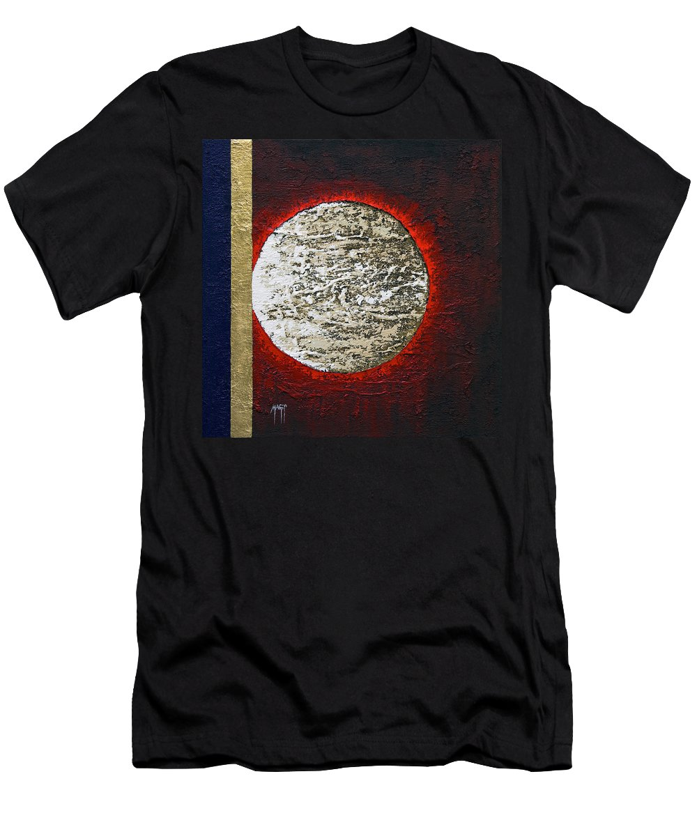 Art Men's T-Shirt (Athletic Fit) featuring the painting Eclips Of The Sun by Mauro Celotti