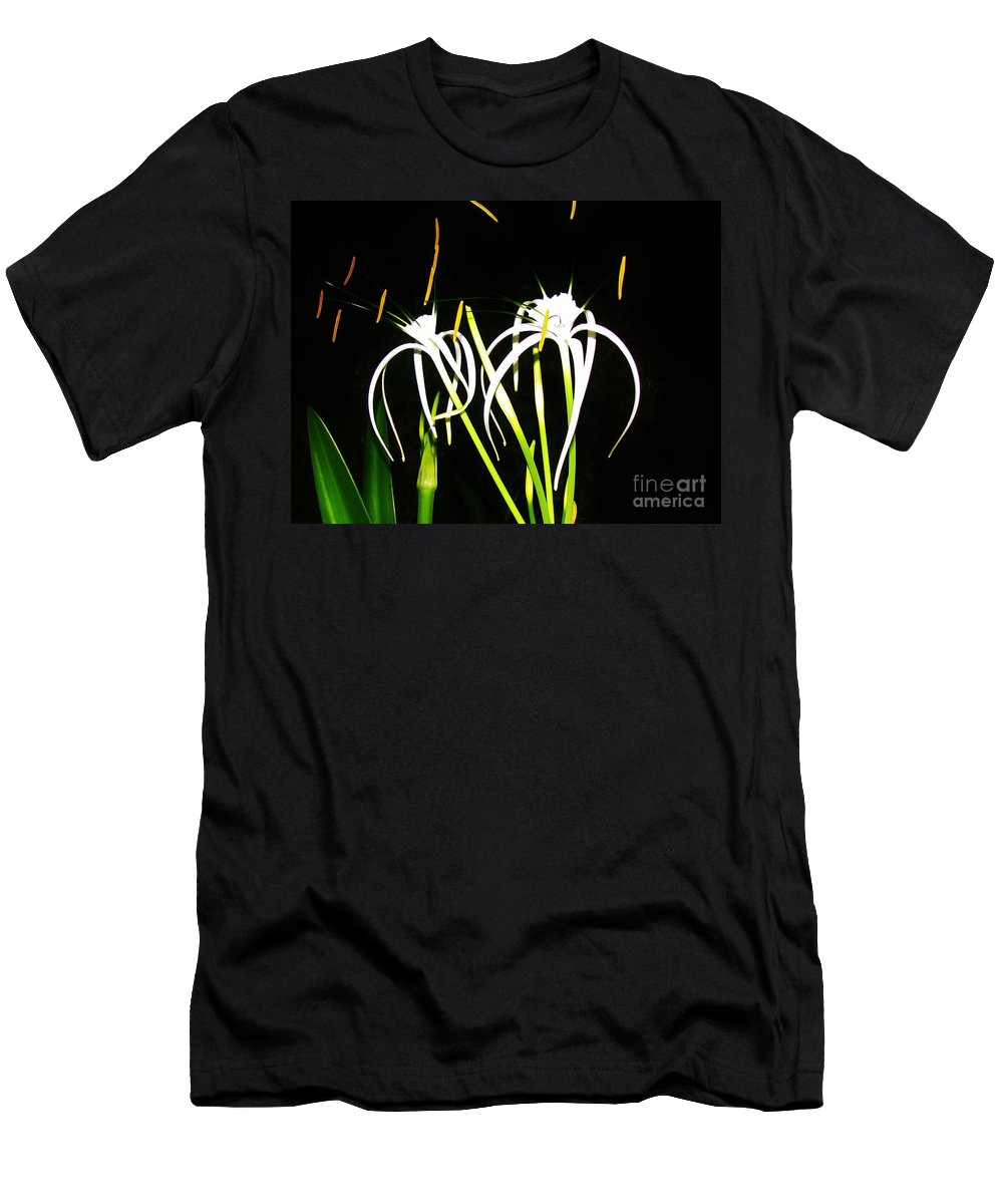 Keri West Men's T-Shirt (Athletic Fit) featuring the photograph Elaines Flowers by Keri West