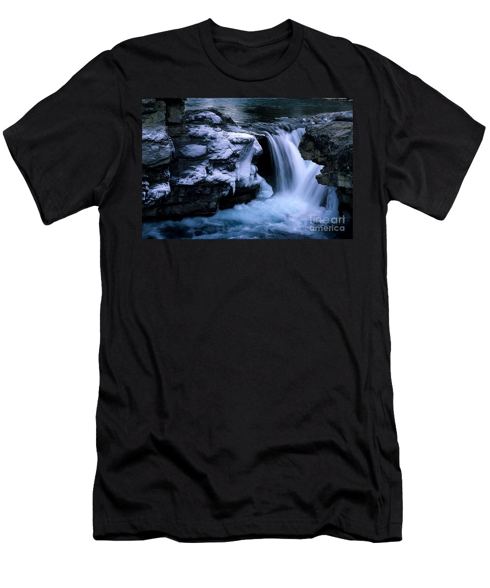Elbow Falls Men's T-Shirt (Athletic Fit) featuring the photograph Elbow Falls by Bob Christopher