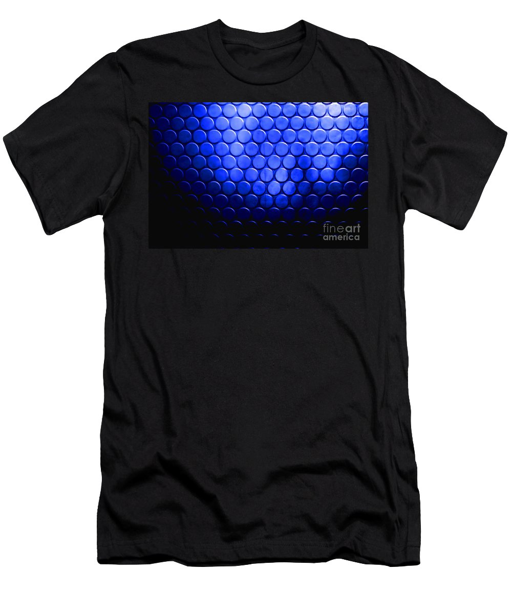 Circles Men's T-Shirt (Athletic Fit) featuring the photograph Electric Blue Circle Bumps by Simon Bratt Photography LRPS