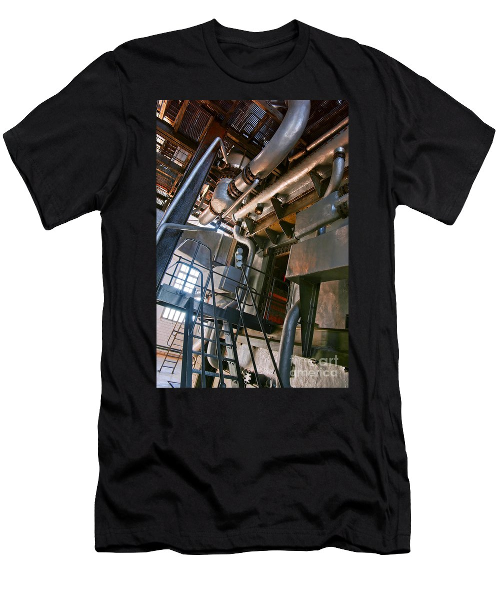 Abstract Men's T-Shirt (Athletic Fit) featuring the photograph Electric Plant by Carlos Caetano