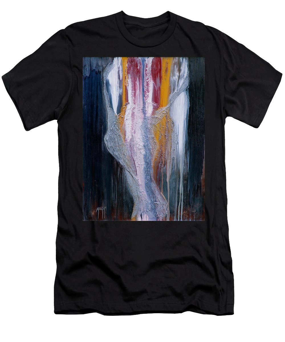 Art Men's T-Shirt (Athletic Fit) featuring the mixed media Embrace by Mauro Celotti
