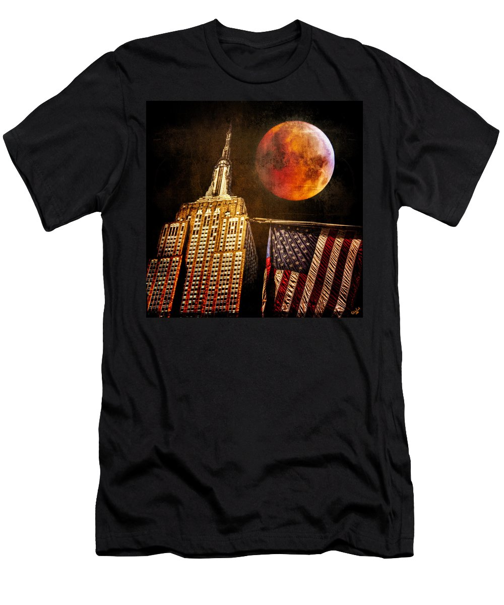 Moon Men's T-Shirt (Athletic Fit) featuring the photograph Empire Solstice by Chris Lord