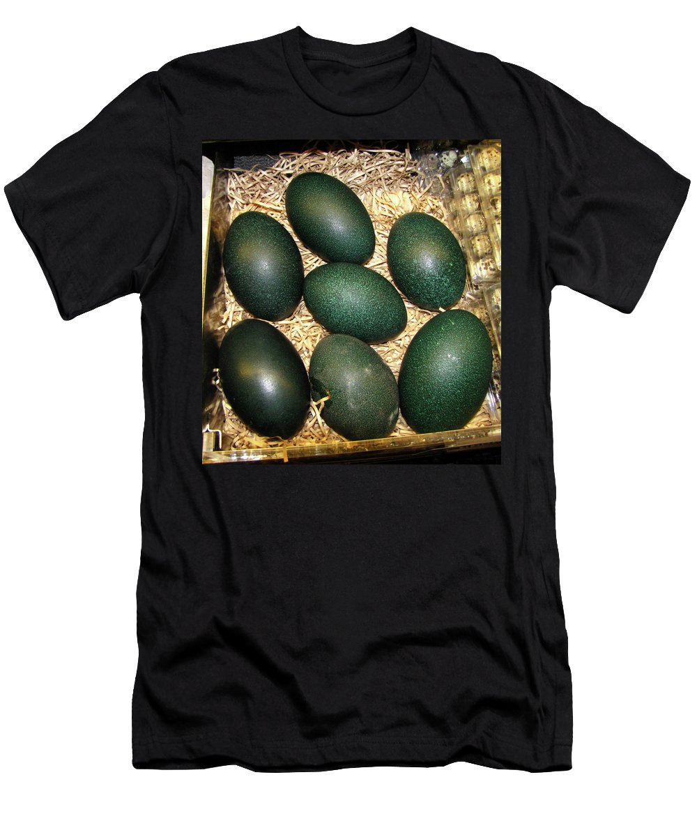 Eggs Men's T-Shirt (Athletic Fit) featuring the photograph Emu Eggs by Denise Keegan Frawley