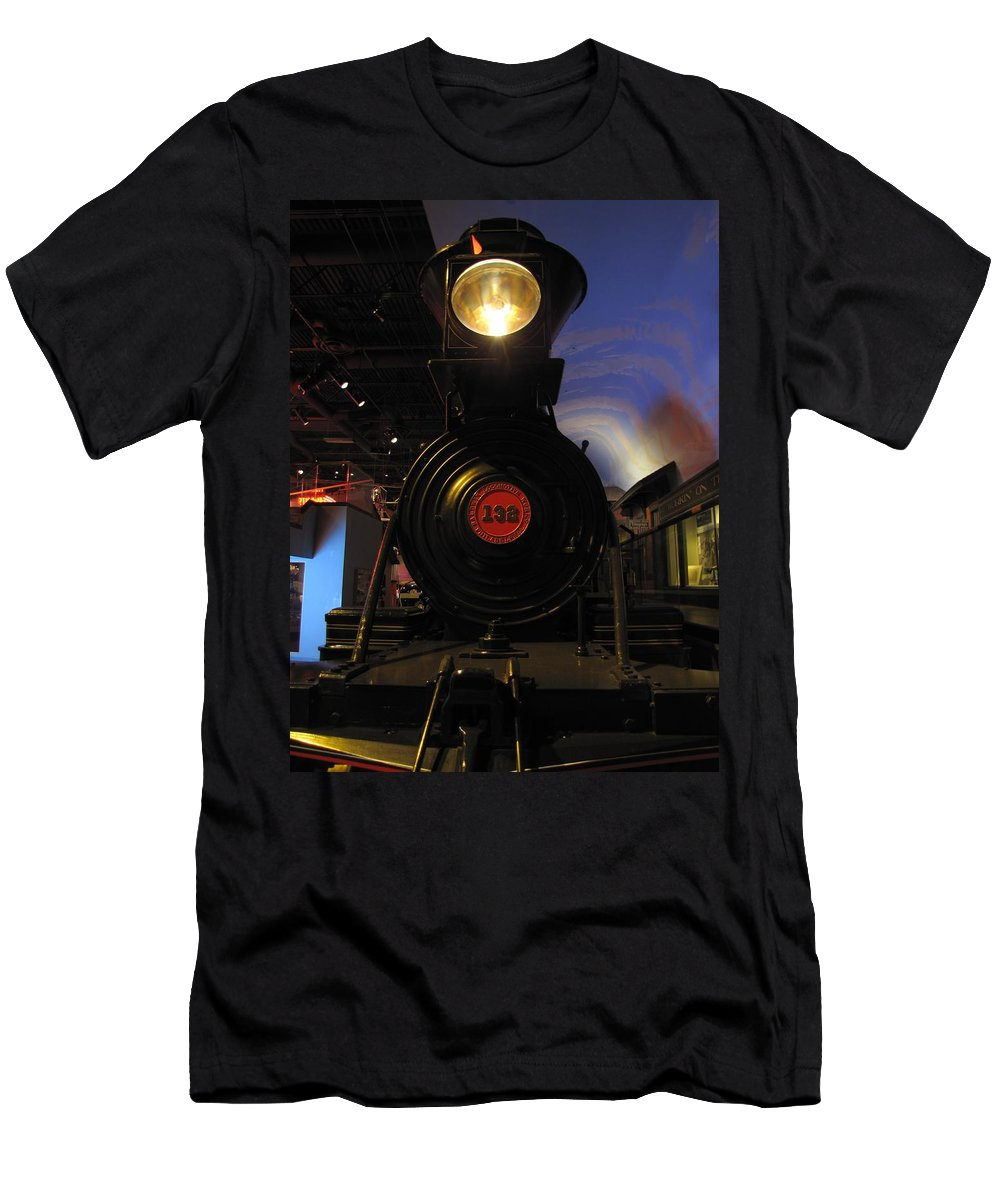 Engine Men's T-Shirt (Athletic Fit) featuring the photograph Engine No. 132 by Keith Stokes