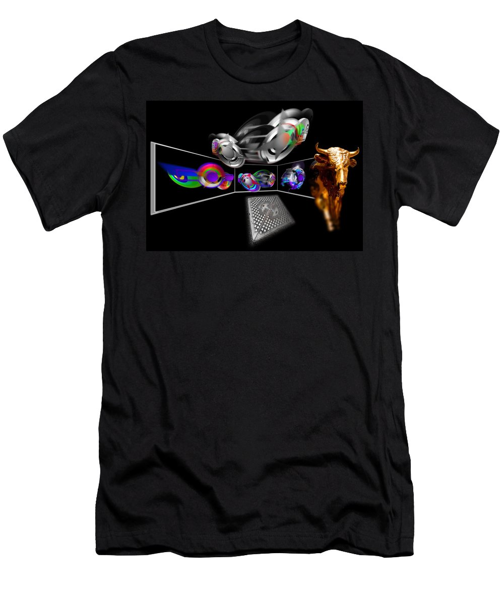 Engine Men's T-Shirt (Athletic Fit) featuring the painting Engine Room by Charles Stuart