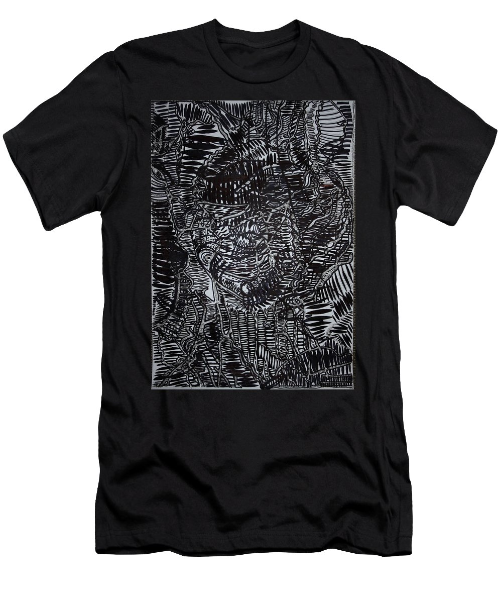 Jesus Men's T-Shirt (Athletic Fit) featuring the drawing Enkai Of Maasai Tradition by Gloria Ssali