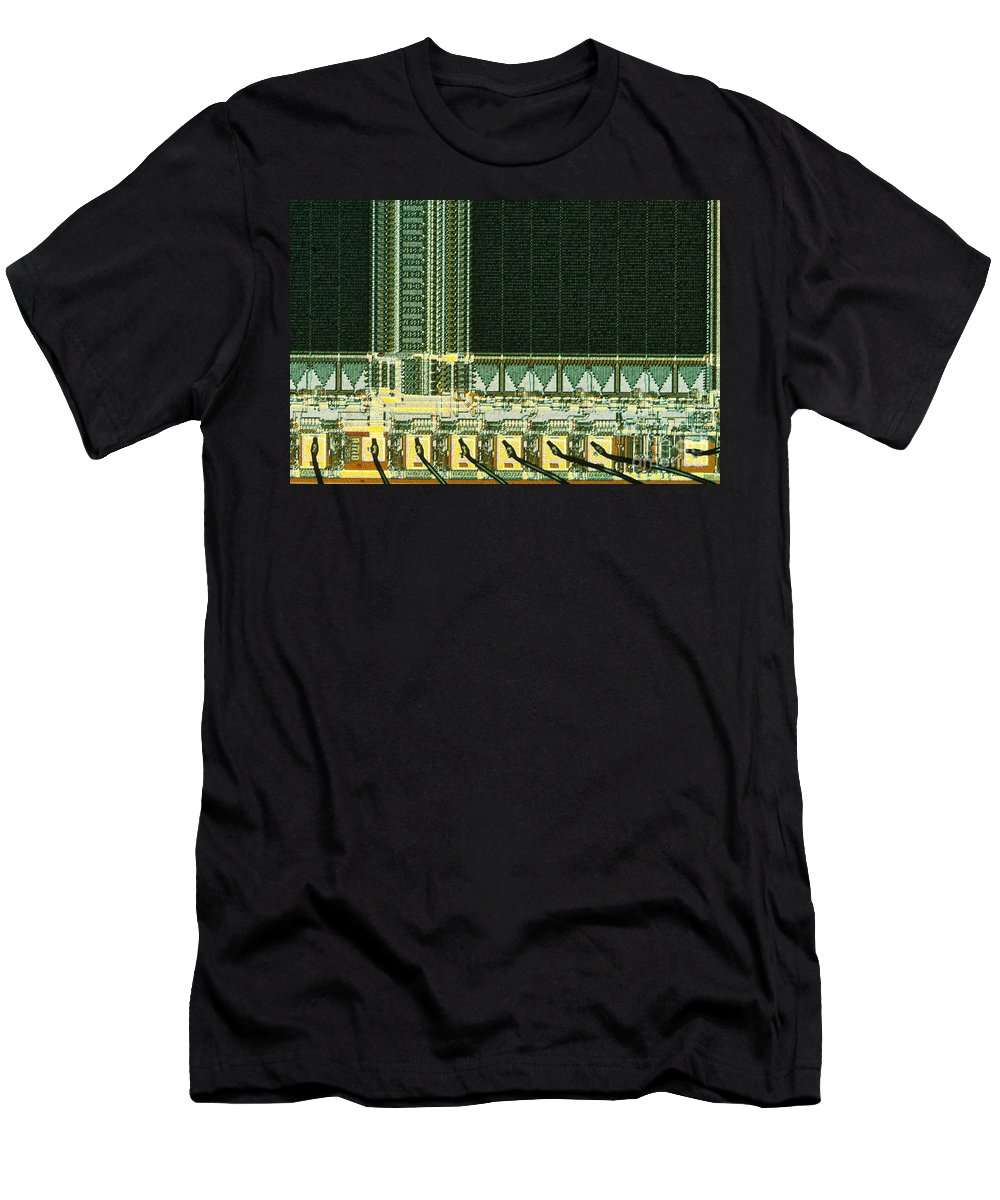 Erasable Programmable Read-only Memory Men's T-Shirt (Athletic Fit) featuring the photograph Eprom by Michael W. Davidson
