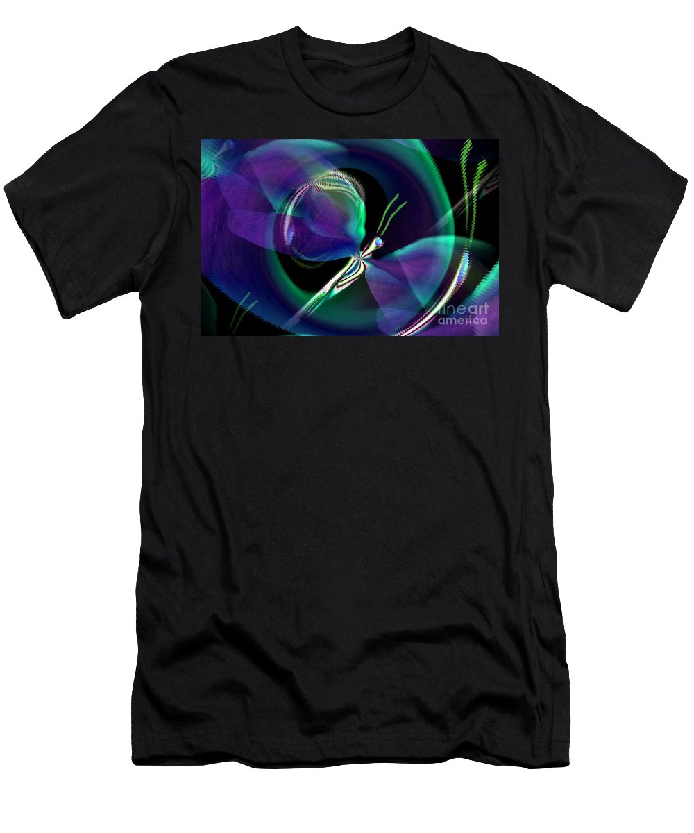 Eve Men's T-Shirt (Athletic Fit) featuring the digital art Eve Of The Dragonfly by Maria Urso