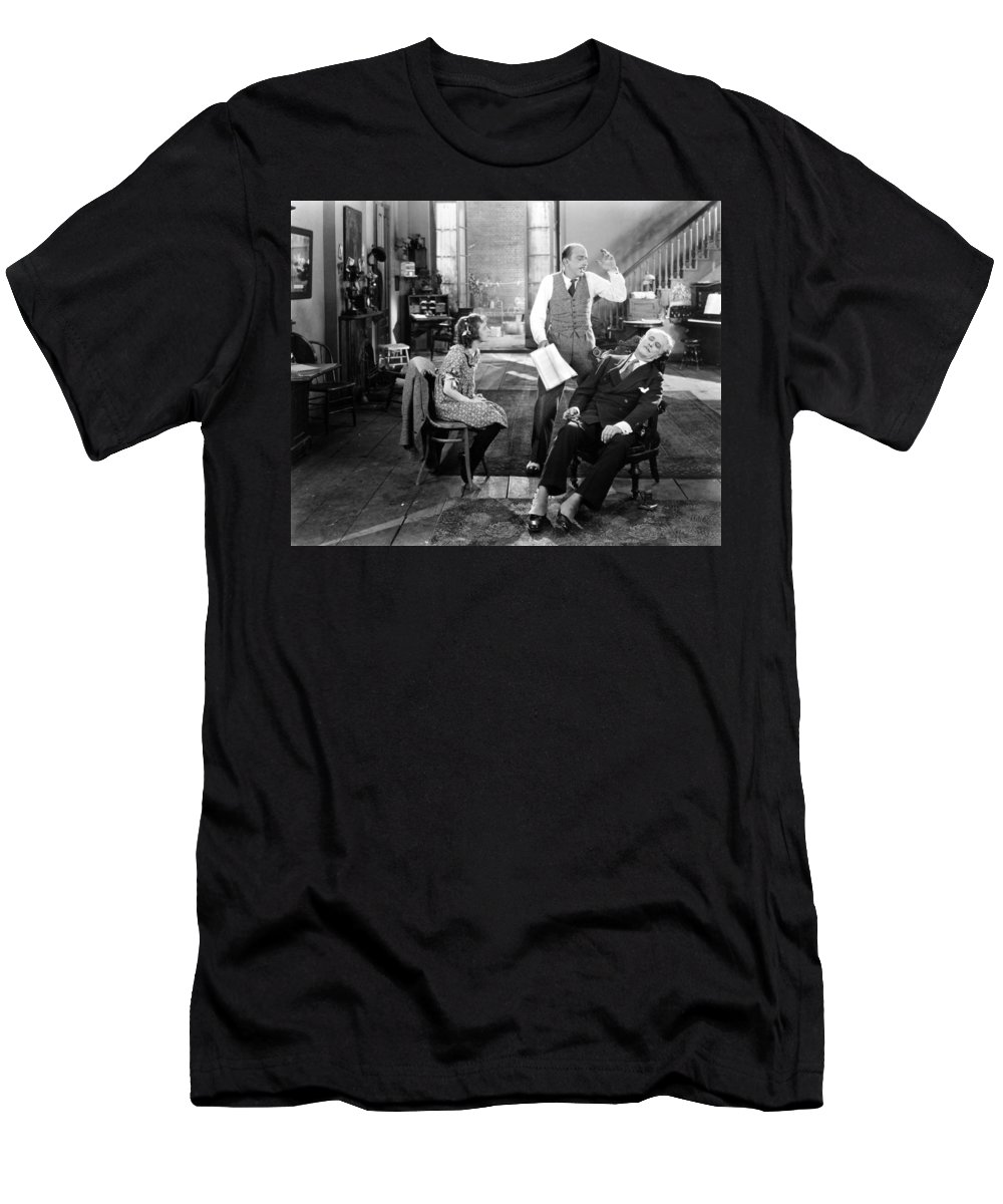 -ecq- Men's T-Shirt (Athletic Fit) featuring the photograph Everybodys Acting, 1926 by Granger