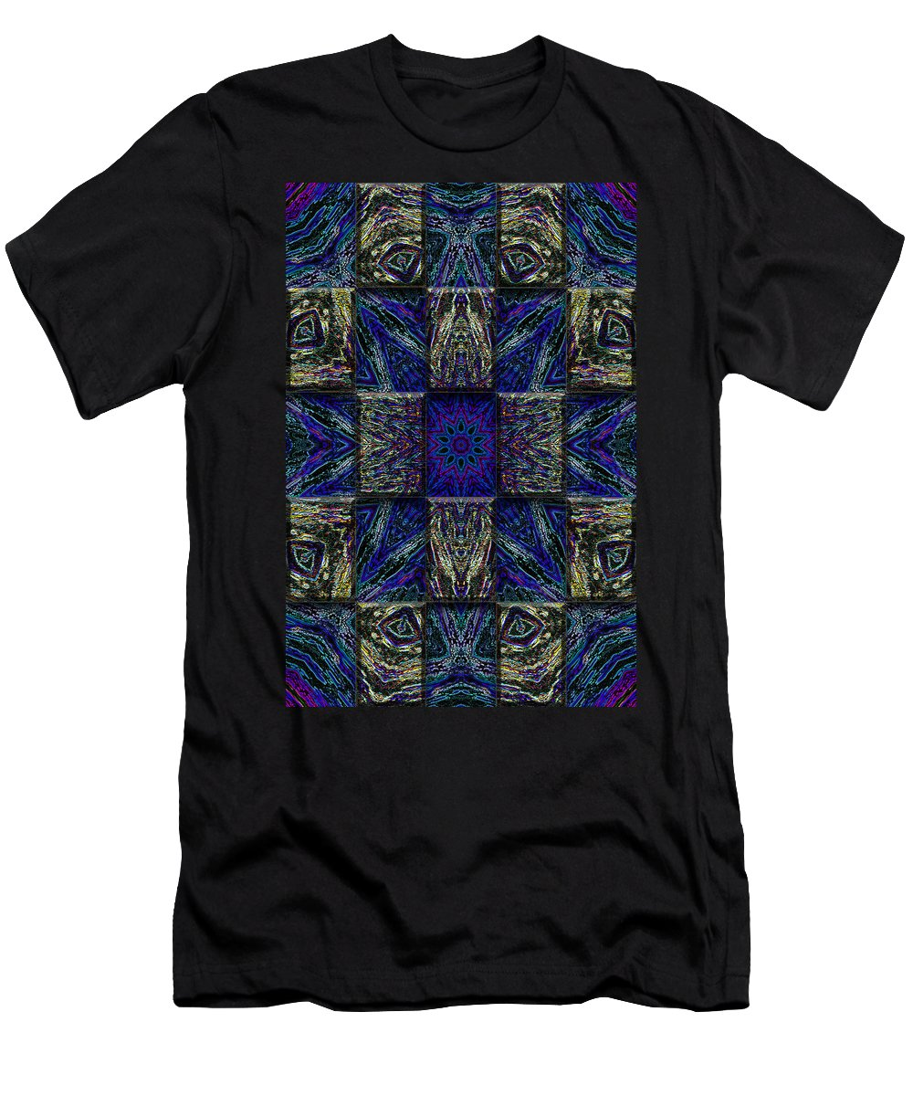 Abstract Men's T-Shirt (Athletic Fit) featuring the digital art Eyes Of The Night by Mark Sellers